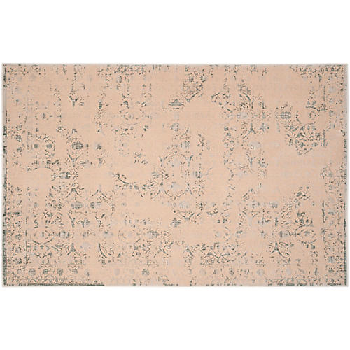 Bartholdi Rug, Cream/Light Blue