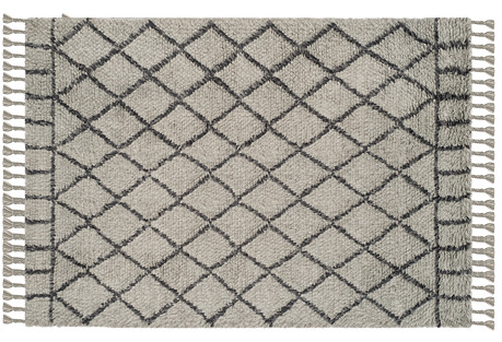 Dimon Rug, Gray/Dark Gray