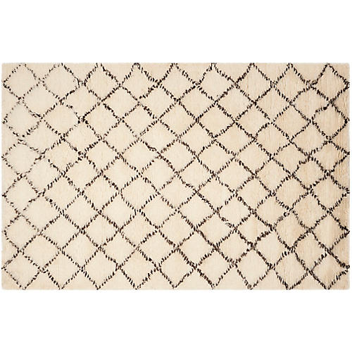 Humboldt Rug, Ivory/Dark Brown