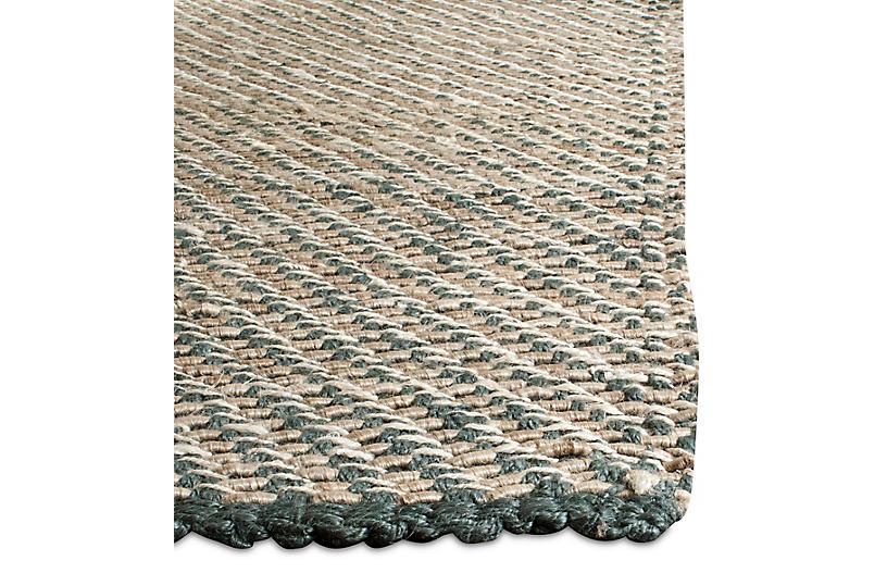 Putnam Jute Rug Blue Natural Natural Fiber Rugs By