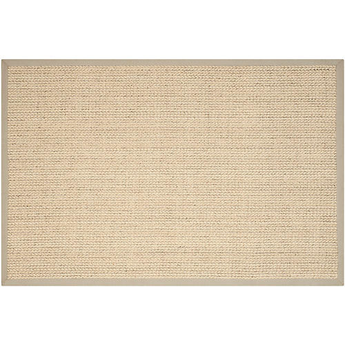 Wall Sisal Rug, Light Gray