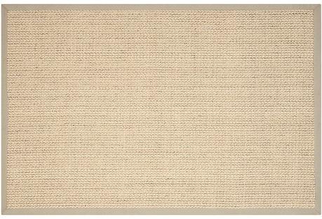 Wall Sisal-Blend Rug, Light Gray