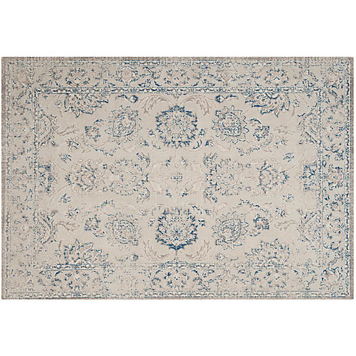 Wales Rug, Gray/Blue