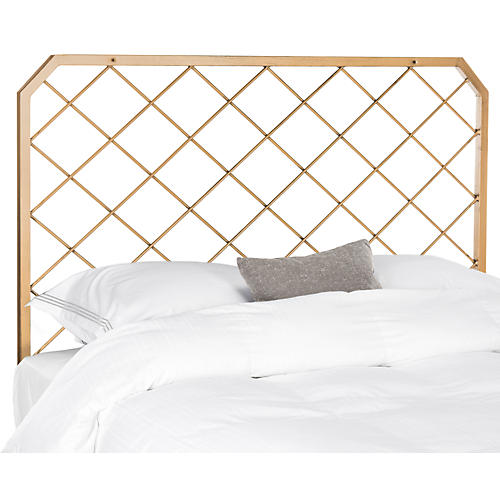Stitch Headboard, Antiqued Gold