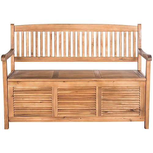 Cacey Outdoor Bench, Natural