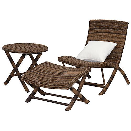 Osten Outdoor Lounge Set, Java