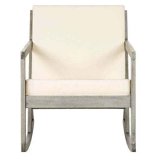 Vala Outdoor Rocking Chair, Gray