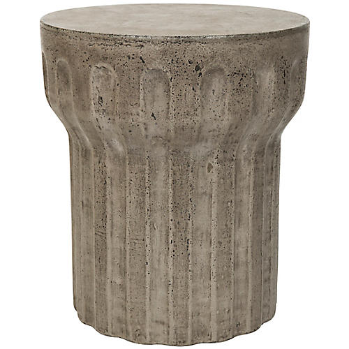 Iggy Outdoor Side Table, Dark Gray