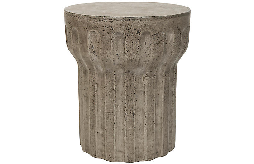 Lynch Outdoor Side Table, Dark Gray