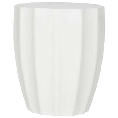 Vasan Outdoor Side Table, Ivory