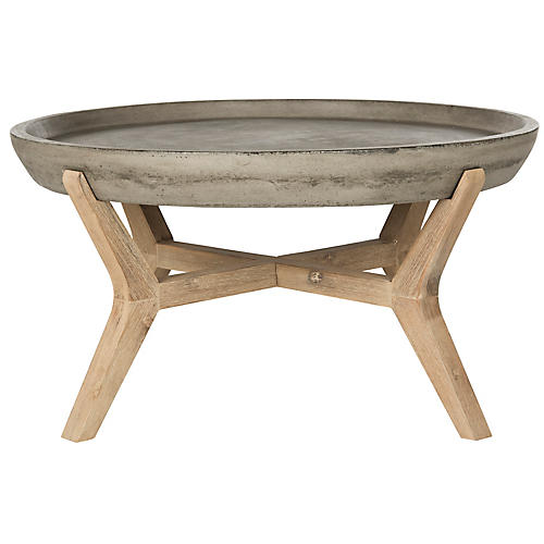 Vinal Outdoor Coffee Table, Dark Gray