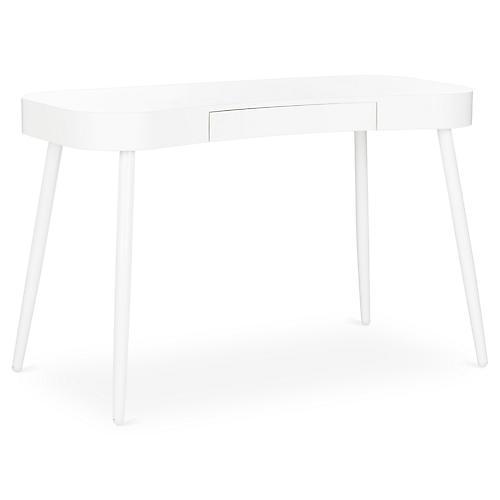 Agna Midcentury Desk, White