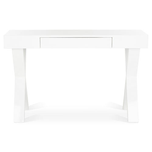 Hedda Midcentury Desk, White