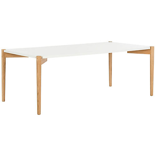 Oda Rectangular Coffee Table, White