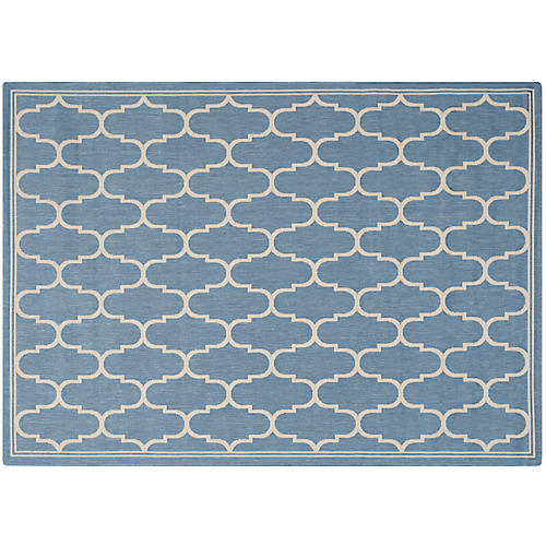 Zariel Outdoor Rug, Blue