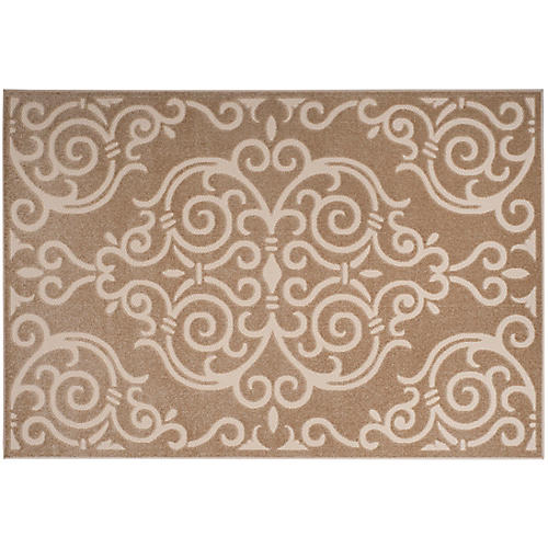 Thyone Outdoor Rug, Light Beige/Cream