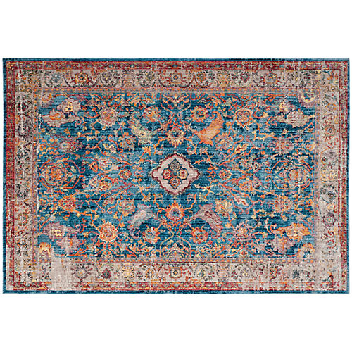 Tolica Rug, Blue/Light Gray