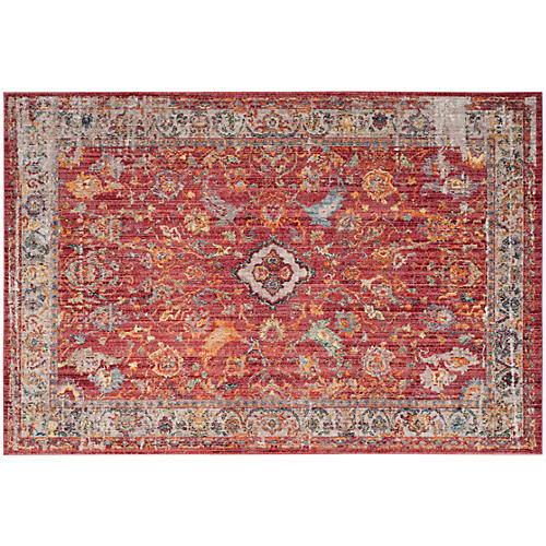 Tolica Rug, Rose/Light Gray