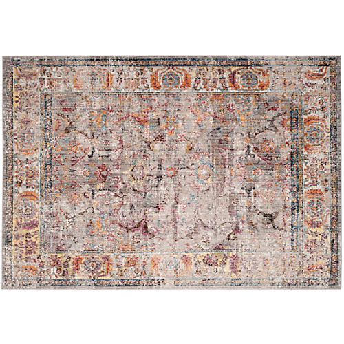 Wildrye Rug, Gray/Light Gray