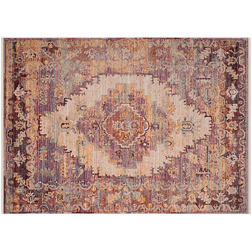 Heitman Rug, Grape/Ivory