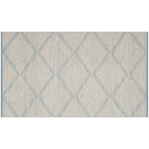 Fennell Rug, Light Blue