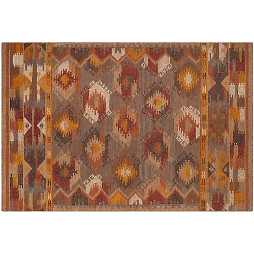 Zaliki Rug, Brown/Multi