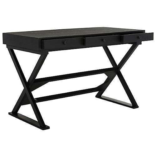 Cadden Desk, Distressed Black