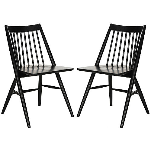 S/2 Bledsoe Side Chairs, Black