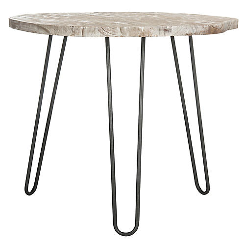 Evander Dining Table, Whitewash