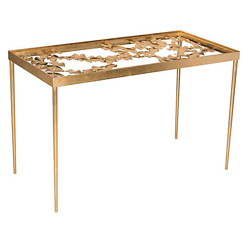 Lomeo Console, Antiqued Gold
