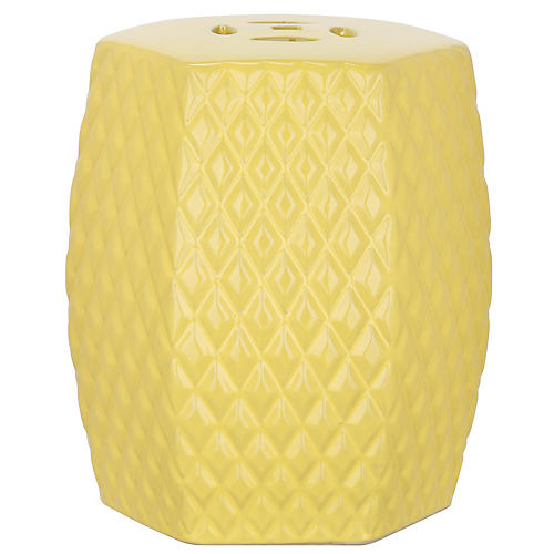 Lourdes Mini Garden Stool, Yellow