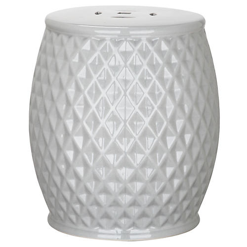 Casilda Mini Garden Stool, Gray