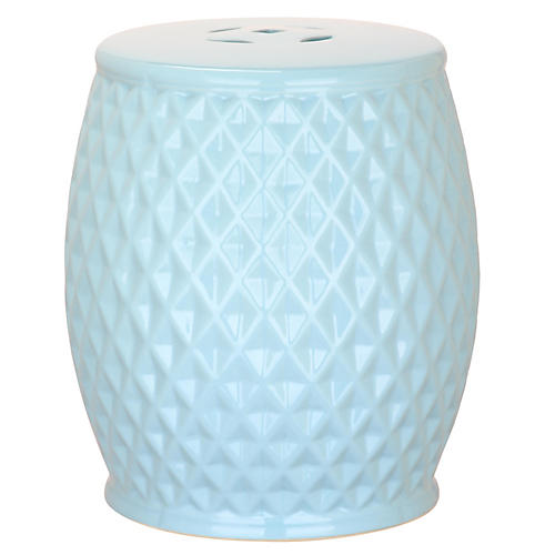Casilda Mini Garden Stool, Blue