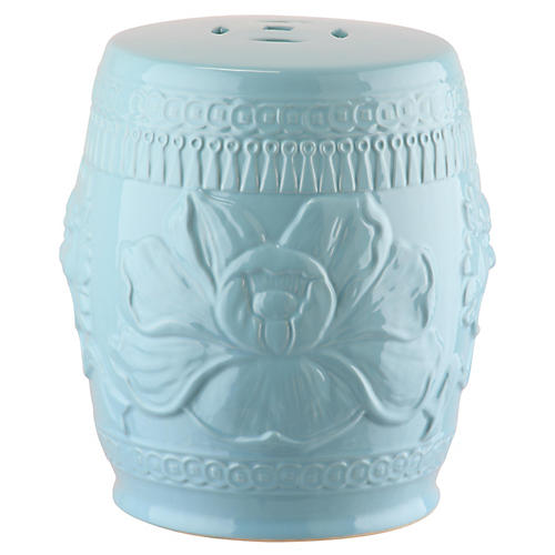Dai Mini Garden Stool, Blue