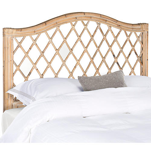 Fairey Wicker Headboard, Whitewash