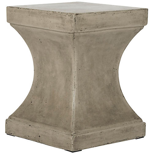 Hedman Outdoor Side Table, Dark Gray