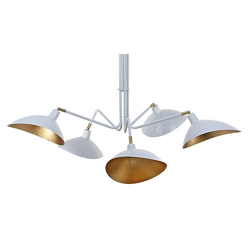 Failey 5-Light Pendant, White