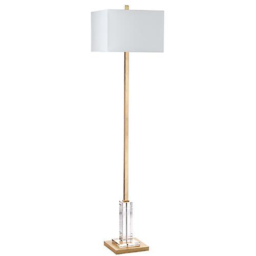 Filkin Floor Lamp, Gold/Clear