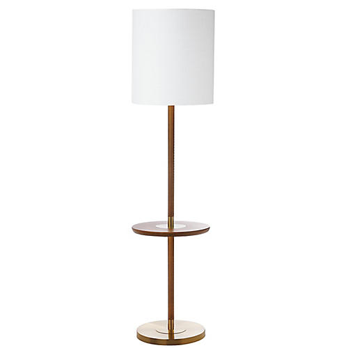 Hanvey Floor Lamp, Brown