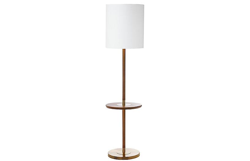 Hanvey Floor Lamp, Brown