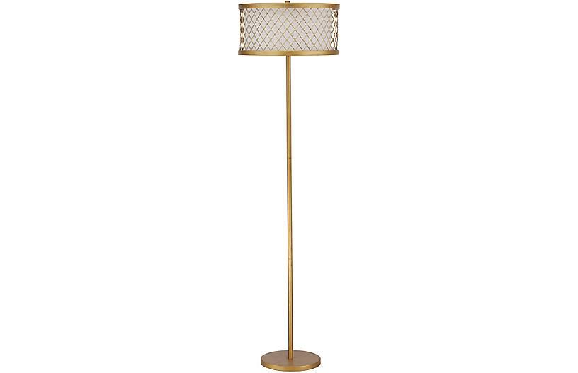 Iovino Floor Lamp, Antiqued Gold