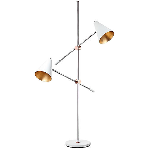 Jenne Floor Lamp, White