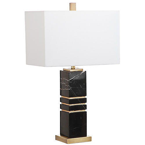 Baisley Table Lamp, Black/Gold