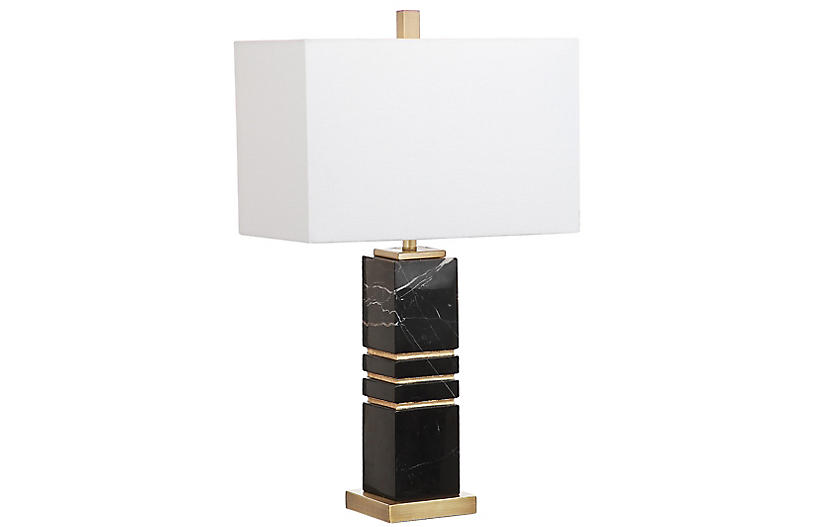 Baisley Table Lamp, Black/Gold