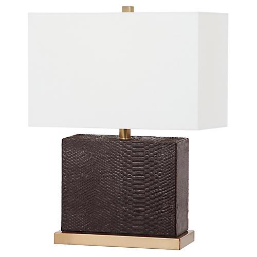 Delayo Table Lamp, Brown