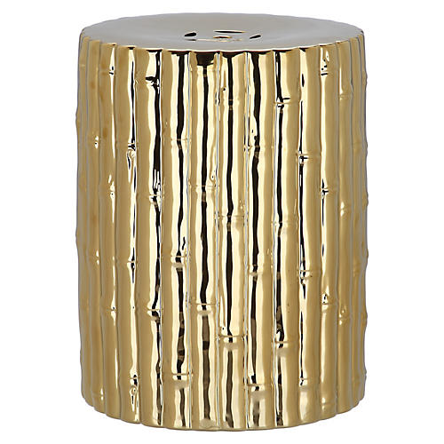 Bamboo Stool, Gold
