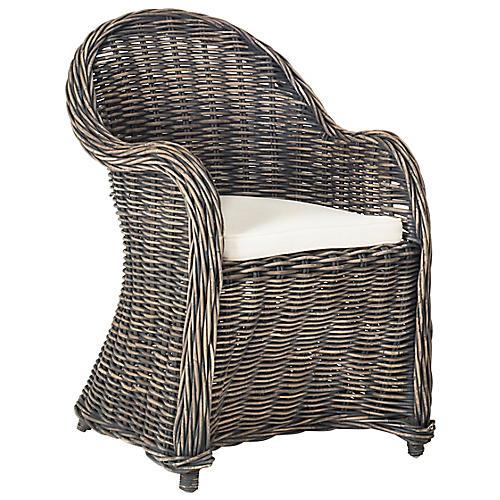 Callista Accent Chair, Blackwash