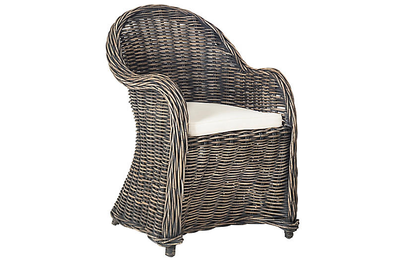 Callista Accent Chair, Blackwash