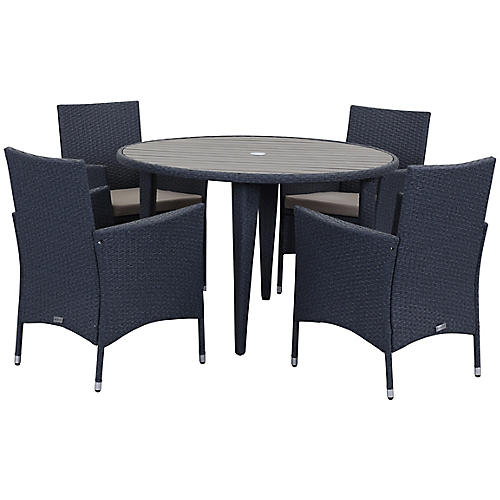 Cooley 5-Pc Outdoor Set, Sand