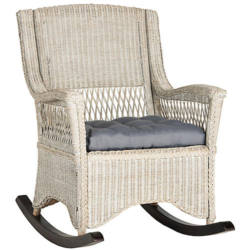 Aria Rocking Chair, Whitewash